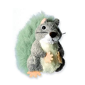 Finger Puppet - Squirrel (Grey) New Soft Doll Plush PC020241