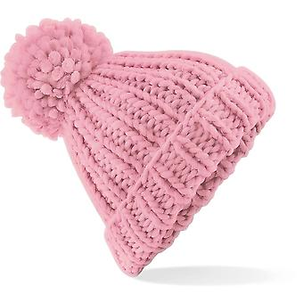 Beechfield - Oversized Hand-Knitted Beanie Hat