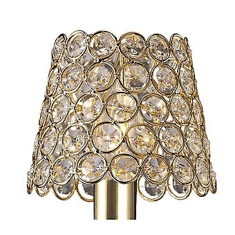 Diyas Clip On Crystal Ring Shade French Gold