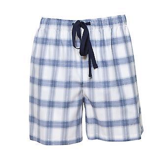 Cyberjammies 6425 bărbați ' s Harper Blue Mix verifica bumbac Pyjama scurt