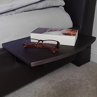 Woodquail Bamboo Bedside Hanging Shelf, Black Bedside Table for Phones, Books, Glasses