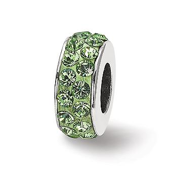 925 Sterling Silber poliert Reflexionen Aug Doppel Reihe Kristall Perle Anhänger Anhänger Halskette Schmuck Geschenke für Frauen