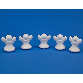 5 polystyren 6CM ängel former att dekorera | Styrofoam jul former