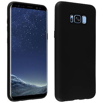 Samsung Galaxy S8 plus silikone semi-stiv sag, soft touch mat finish-sort