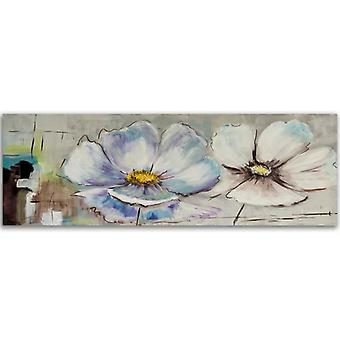 Canvas, Panorama Picture on canvas, Canvas, Two white flowers