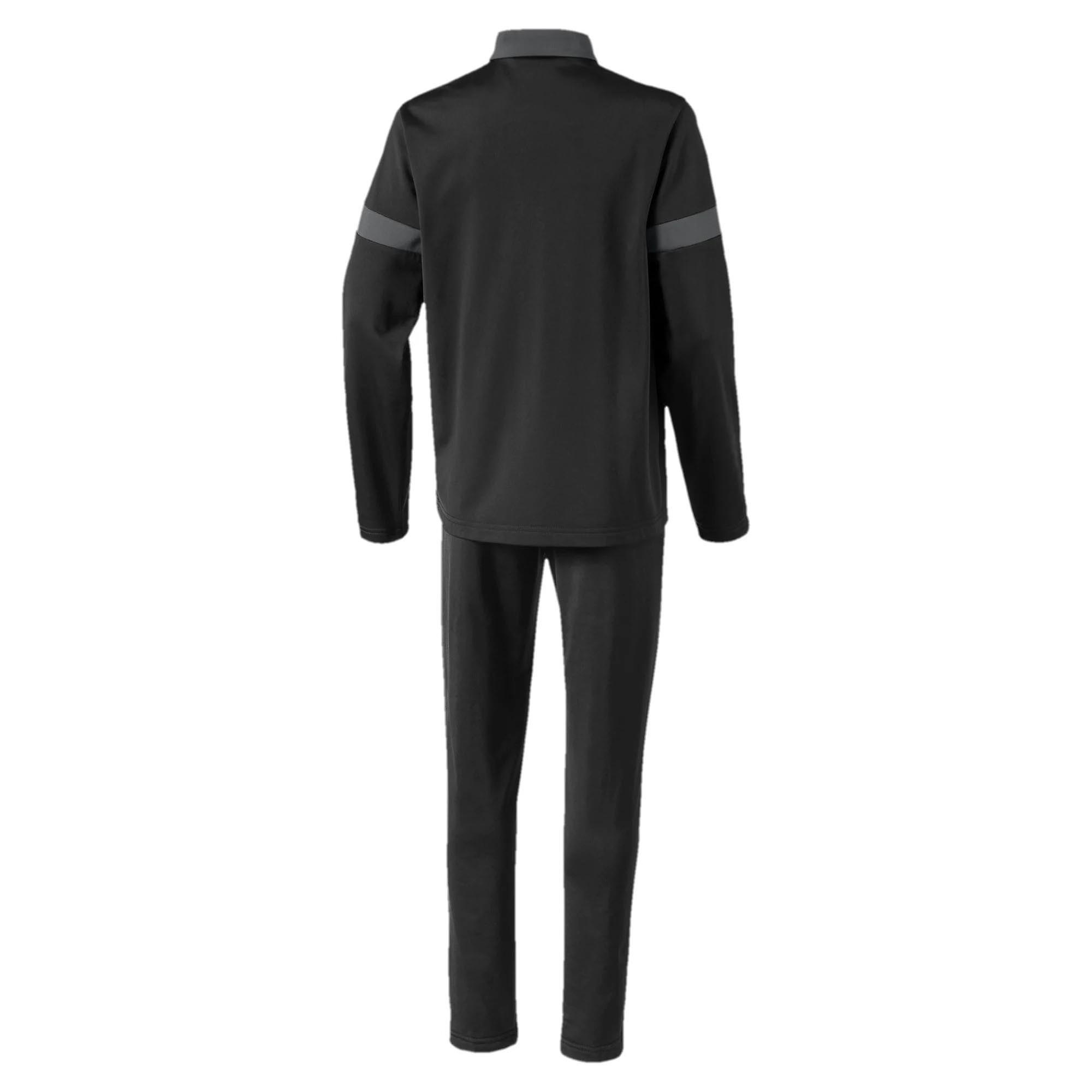 Puma FtblPLAY Kids Football Fitness Training Sports Tracksuit Set Black/Grey