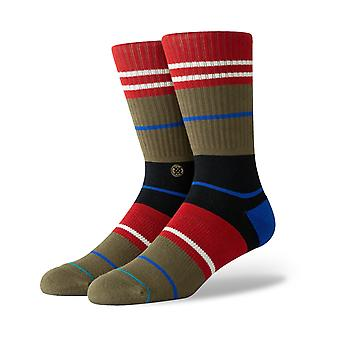 Stance Grunge Crew Socks in Army