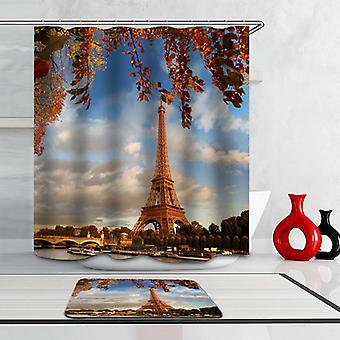 Eiffel Tower Autumn Colors Shower Curtain