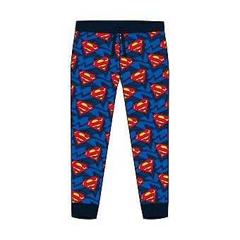 Men's DC Superman Classic Logo Cuffed Lounge Pants