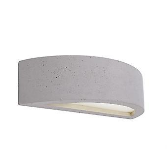 UpDown wand lamp Sarin Max. 1x25 W E14 300x75mm grijs beton kan worden overcoatted