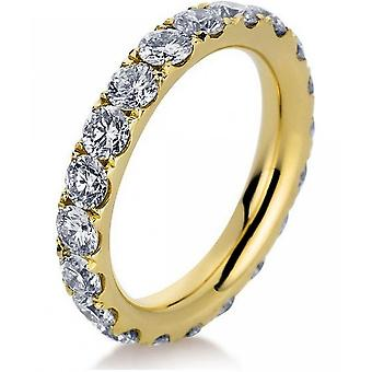 Diamantring Ring - 18K 750 Gelbgold - 3 ct.