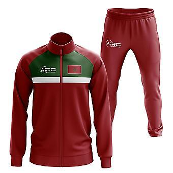 Marokko Concept Fußball Trainingsanzug (Rot)