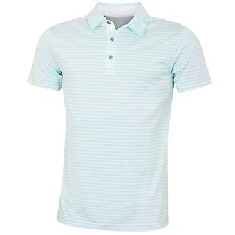 Bobby Jones Mens Rule 18 Tech Control Comfort Stripe Golf Polo Shirt