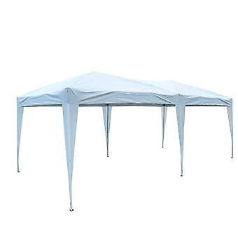 Outsunny 3 X 6M Heavy Duty Waterpoof UV Resistant Pop Up Gazebo Canopy Marquee Party Tent Wedding Awning Canopy w/ Carrying Bag (White)
