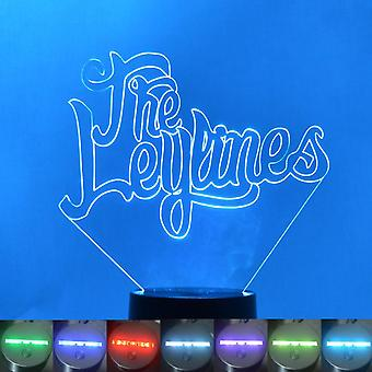 Die Leylinien Name Farbwechsel LED Acryl Licht