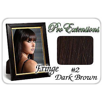 #2 tummanruskea Pro Fringe Clip otsa tukka