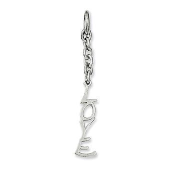 Stainless Steel Polished Love Interchangeable Charm Pendant Necklace Bijoux Cadeaux pour les femmes