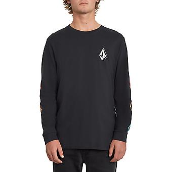 Volcom Deadly Stone Long Sleeve T-Shirt in Black