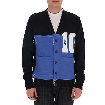 Maison Margiela S50gp0203s16968900f Men's Blue Wool Cardigan