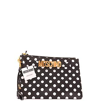 Moschino Ezbc015121 Women's White/black Leather Clutch