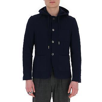 Thom Browne Mjt206a01732415 Men's Blue Cotton Outerwear Jacket
