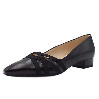 Peter Kaiser Liesel Low Heel Shoes In Black