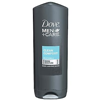 Dove men+care body and face wash, clean comfort, 13.5 oz