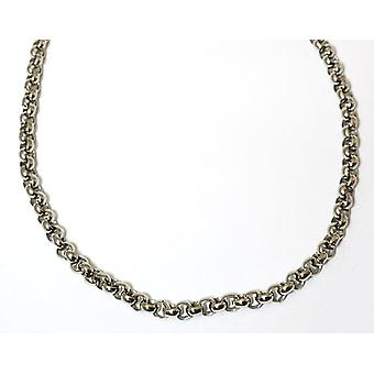 Stainless Steel Round Belcher Link Rolo Chain 18 inch Gents Necklace