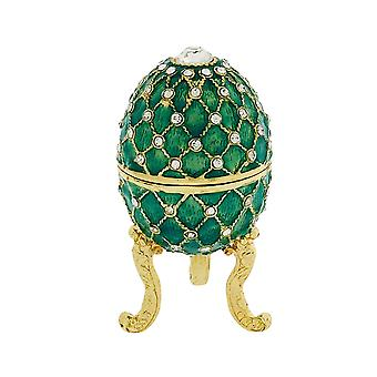 Juliana Light Green Treasured Trinket Faberge-Style Egg Jewellery Box FE15598