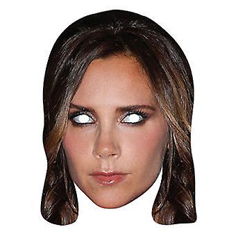 Victoria Beckham Celebrity Single Card Party Fancy Dress Mask