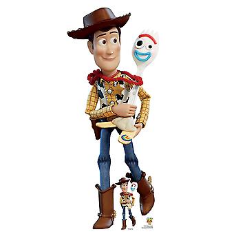 Woody i Forky Official Disney Toy Story 4 Lifesize Karton Cutout / Standee