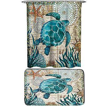 Sea turtle Shower Curtains set 2 Piece