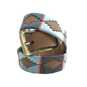 carlos diaz unisex  brown leather  polo belt  cdupb156