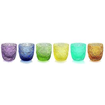 Ivv Tricot Set 6 Liqueur Glasses In Assorted Colours 0.75ml
