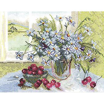 Panna Cross Stitch Kit : Cherries and Daisies