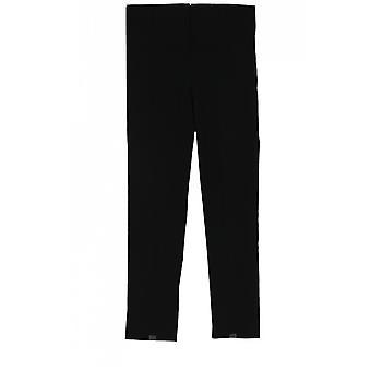 Lauren Vidal Black Slim Fit Cropped Trousers
