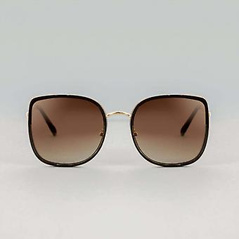 Mara gepolariseerde zwart-bruine vierkante zonnebril