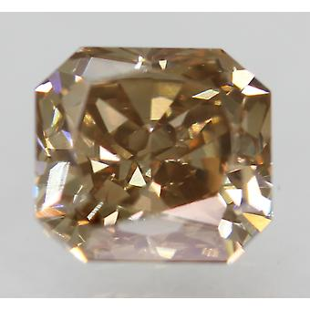 Cert 1.05 Carat Int Brown VVS1 Radiant Natural Loose Diamond 5.64x5.25mm 2EX