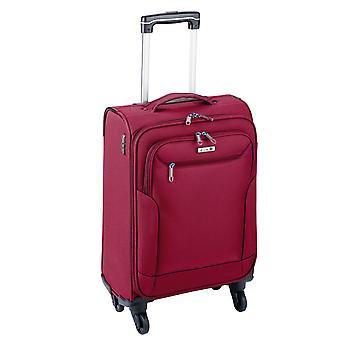 d&n Travel Line 6804 Handbagage Trolley S, 4 wielen, 55 cm, 35 L, rood