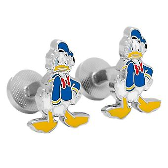 Disney Donald Duck Enamel Plated Character Cufflinks