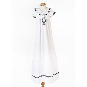 Christening Gown With Sort Sleeve In  Sailor Look For Boys And Girls. Grace Of Sweden