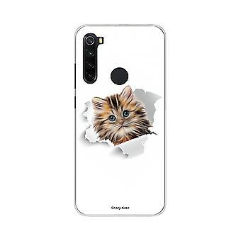Scafo per Xiaomi Redmi Note 8 Morbido Cute Cat