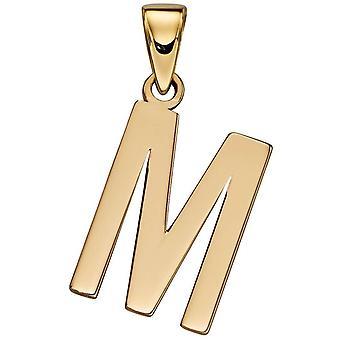 Elements Gold M Pendant - Gold