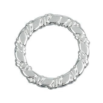 Sterling Silver Spacer Twisted 13.5mm 10mm Diamètre intérieur