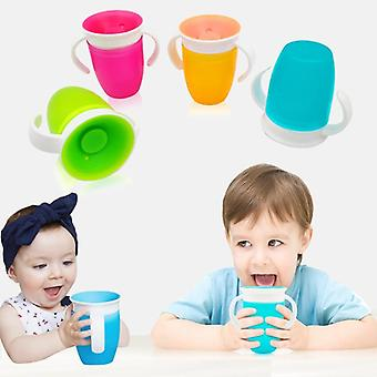 Leakproof Magic Kids Water Feeding Bottle - Baby Learning Drinking Plastic Cup