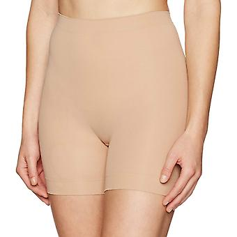 Arabella Women's Seamless Smoothing Shapewear Short met, Nude, Size Medium