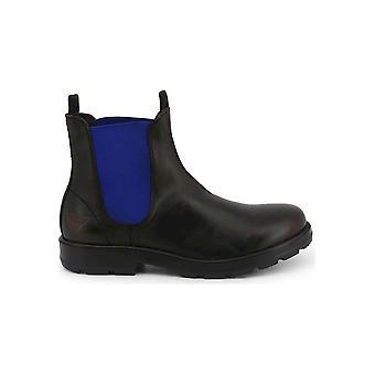 Docksteps - Shoes - Ankle boots - JASPER_6039_BLACK-BLU - Men - black,blue - EU 46