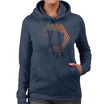 Sonic The Hedgehog Sliced Energy Women's Hooded Sweatshirt