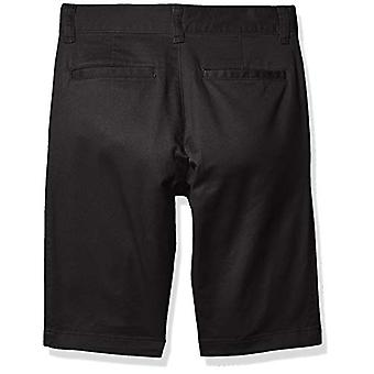 Essentials Boys' Woven Shorts, Black, 16(H)