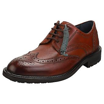 Ted Baker Theruu Mens Brogue Boots in Tan